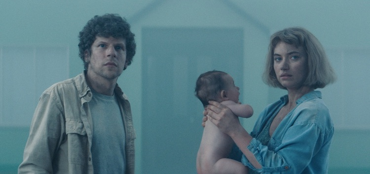 "(L-R) Jesse Eisenberg as Tom and Imogen Poots as Gemma in the thriller, "" VIVARIUM ,"" a Saban Films release."" Photo Courtesy of Saban Films"