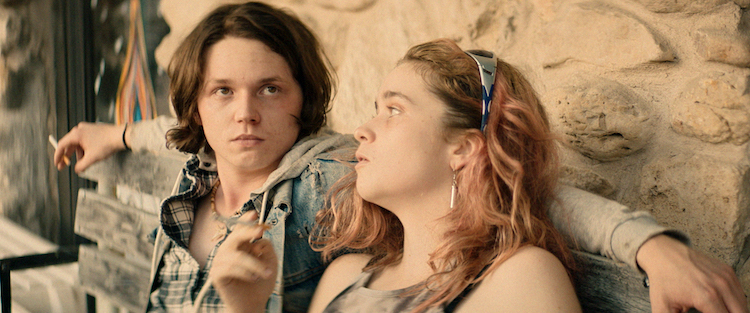 [L - R] Jack Kilmer as Utah and Alice Englert as Opal in the thriller BODY BROKERS , a Vertical Entertainment release. Photo courtesy of Vertical Entertainment.