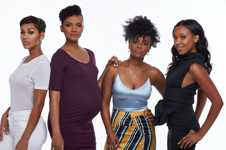 (L - R) Meagan Good as Tyra, Mekia Cox as Suzanne, Tam a ra Bass as Patrice and Meagan Holder as Deidre in the drama, IF NOT NOW, WHEN? , a Vertical Entertainment release. Photo courtesy of Vertical Entertainment.