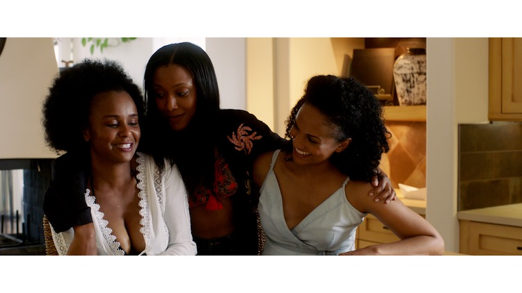 (L - R) Tamara Bass as Patrice, Meagan Holder as Deidre and Mekia Cox as Suzanne in the drama, IF NOT NOW, WHEN? , a Vertical Entertainment release. Photo courtesy of Vertical Entertainment.
