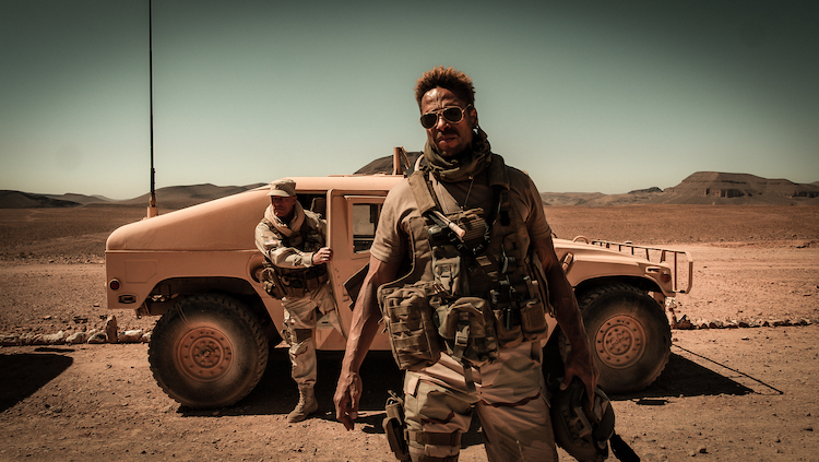 Gary Dourdan as Brad Paxton in the action film REDEMPTION DAY , a Saban Films release. Photo courtesy of Saban Films