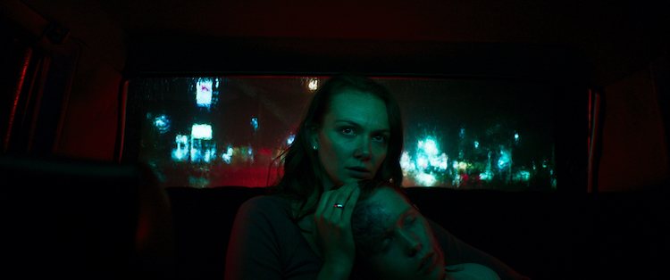 [L - R] Andi Matichak as Laura and Luke David Blumm as David in the horror film SON , a RLJE Films/Shudder release. Photo courtesy of RLJE Films.
