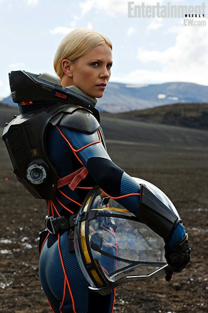 Charlize Theron Prometheus Push Ups