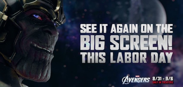 The Avengers hitting theaters again this weekend and perhaps with a